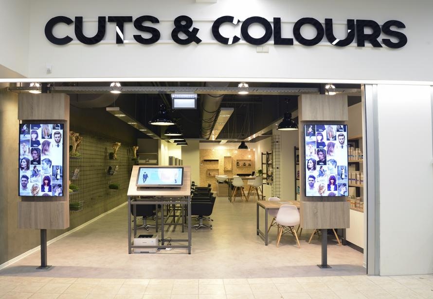Cuts and Colours kapperszaak Digital signage